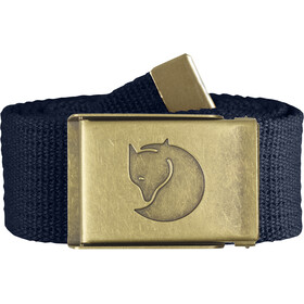 Fjällräven Canvas Brass Belt 4 cm dark navy